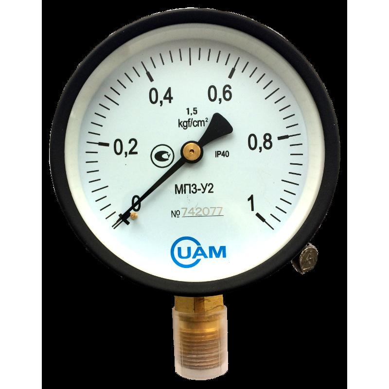 Манометр МП3-У2-1 кгс/см2-1,5-М20х1,5