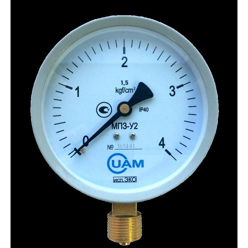 Манометр МП3-У2 (Эко) 4 кгс/см2-1,5-М20х1,5