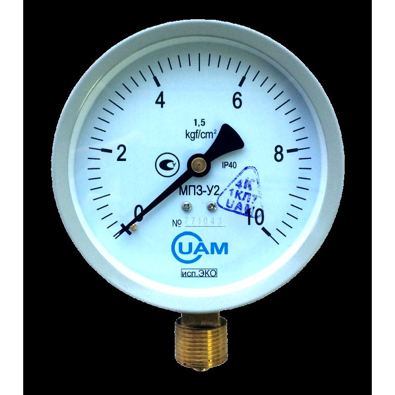Манометр МП3-У2 (Эко) 10 кгс/см2-1,5-М20х1,5