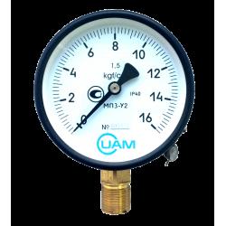 Манометр МП3-У2-16 кгс/см2-1,5-М20х1,5