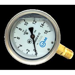 Манометр ДМ8008-В-У2 16 кгс/см2-1,5-М20х1,5