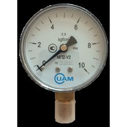Манометр МП2-У2-10 кгс/см2-2,5-М12х1,5