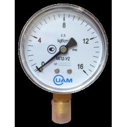 Манометр МП2-У2-16 кгс/см2-2,5-М12х1,5