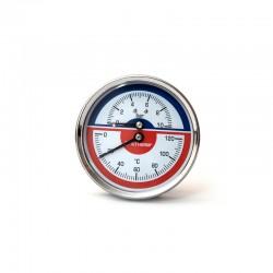 Термоманометр (O) D80-10bar-120