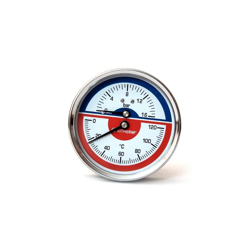 Термоманометр (O) D80-16bar-120