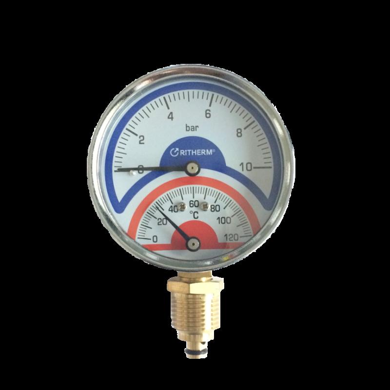 Термоманометр (R) D80-10bar-120